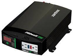 Xantrex - 806-1210 - Xantrex PROwatt SW 1000 DC-to-AC Power Inverter - Input Voltage: 12 V DC - Output Voltage: 127 V AC, 5 V DC - Continuous Power: 1000 W