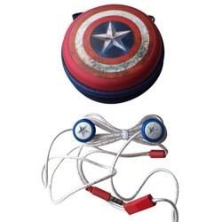 KIDdesigns (SDI) - CAM18 - Captain America Fashion Earbuds