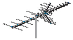 AntennaCraft - HBU33 - 85 Boom HBU Series Antenna for UHF and High-Band VHF - 70 to 60 Mile Range