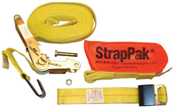 Kinedyne - KL512720PAK - 2 x 27' Ratchet Strap with Wide Handle 2004 Webbing and StrapPak(TM)