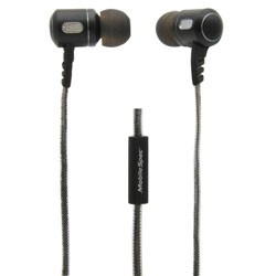 MobileSpec / BASIC - MBS10152 - Premium Stereo Metal Earbuds with In-Line Mic Black/Graphite