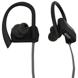 MobileSpec / BASIC - MBS11106 - Bluetooth Wireless Earbuds with Ear Clips Gray/Black