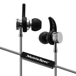 MobileSpec / BASIC - MBS11107 - Bluetooth Wireless Earbuds with In-Line Mic Gray/Black