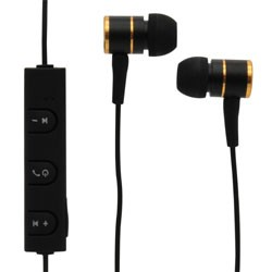 MobileSpec / BASIC - MBS11109 - Bluetooth Wireless Earbuds with In-Line Mic Black/Gold