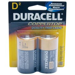 Duracell - MN1300B2Z - D Size 2 Pack Alkalinebattery Copper Top