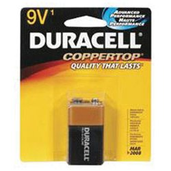 Duracell - MN1604B1Z - Coppertop Alkaline Batteries, 9V