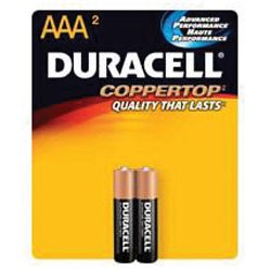 Duracell - MN2400B2Z - Aaa Size 2 Pack Alkalinebattery Copper Top
