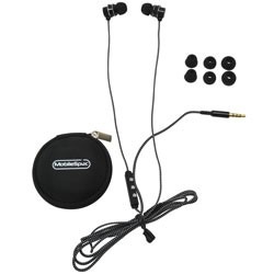 MobileSpec / BASIC - MS52BK - Chords Noise Isolating Ear Buds with In-Line Mic Black
