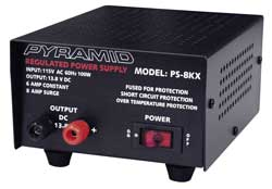 Pyramid Car Audio - PS8KX - Pyramid 6 Amp Power Supply - 110 V AC Input Voltage - External