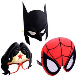 Other - SG3095 - SunStaches Sunglasses Assortment Batman/ Spiderman/ Wonder Woman