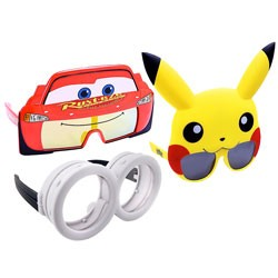 Other - SG3096 - SunStaches Sunglasses Assortment Cars/ Minions/ Pikachu