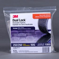 3M - TB3560 - 1 x 10' Dual Lock Reclosable Fastener Clear