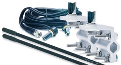 TruckSpec - TSPS-23KB - 3' Platinum Series Dual Mirror Mount CB Antenna Kit 1000W Black