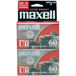 Maxell - 109024 - Maxell 109024 Audio Cassette - 2 x 60 Minute - Normal Bias