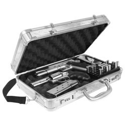 Vaultz - VZ00716 - Locking Handgun Case Treadplate Silver
