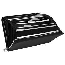 Vaultz - VZ03167 - Locking 7 Pocket Expanding File Black