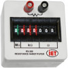 IET Labs - RS-200 - Decade Box, Resistance, 7, 0 ohm to 9.999999Mohm, 1 %