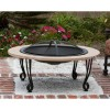 Fire Sense - 02115 - Cast Iron Rim Stone Finish Fire Pit