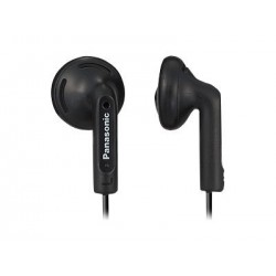 Panasonic - RP-HV096-K - Panasonic RP-HV096 Earphone - Stereo - Black - Mini-phone - Wired - 17 Ohm - 20 Hz 20 kHz - Nickel Plated - Earbud - Binaural - Open - 3.94 ft Cable