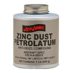 Jet-Lube - 27002 - Zinc Petrolatum Cid A-a-59313 1/2lb Brush Top Cn