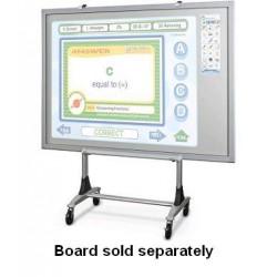 Best-Rite / MooreCo - 56402 - Balt Genius Mobile Board Stand - 200 lb Load Capacity - 84.8 Height x 36 Width x 26 Depth - Steel - Platinum
