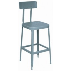 Lyon Workspace - 1804 - 24h Stool W/back And Steel Seat Lyon (moq=2)
