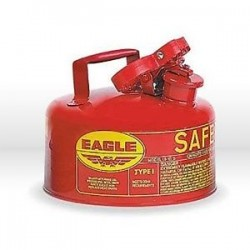 Eagle Mfg - UI-20-S - Eagle 2 Gallon Red 24 Gauge Galvanized Steel Type I Safety Can With Non-Sparking Flame Arrestor Without Funnel, ( Each )