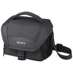 Sony - LCS-U11 - Sony LCS-U11 Carrying Case for Camcorder, Camera - Black - Scuff Resistant - Shoulder Strap - 5.1 Height x 6.7 Width x 3.9 Depth