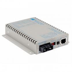 Omnitron - 8703-1-D - iConverter T1/E1 Fiber Media Converter RJ48 SC Single-Mode 30km - 1 x T1/E1; 1 x SC Single-Mode; Wall-Mount Standalone; US AC Powered; Lifetime Warranty