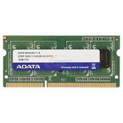 A-DATA Technology - AD3S1600W4G11-S - Adata Premier 4GB DDR3 SDRAM Memory Module - 4 GB - DDR3 SDRAM - 1600 MHz DDR3-1600/PC3-12800 - 1.50 V - Non-ECC - 204-pin - SoDIMM