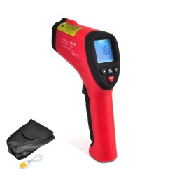 Pyle / Pyle-Pro - PIRT30 - Pyle High Temperature Infrared Thermometer with Type K Input - 58 F (-50 C) to 2552 F (1400 C) - Hold Function, Auto-off, Backlit Digital Display, Laser Pointer, Infrared
