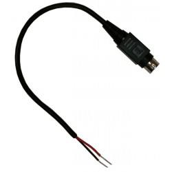 Tycon Power Systems - 5700049 - Tycon Power 5700049 Cable, 4Pin Mini DIN Male to 2 Wire, 6'