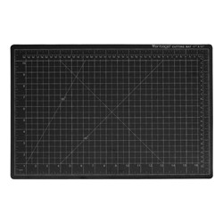 Dahle - 10672 - Dahle Vantage Self-Healing Cutting Mats - Cutting, Drawing, Sewing - 24 Width x 18 Depth x 0.13 Thickness - Rectangle - 1/2 Grid Lines - Polyvinyl Chloride (PVC) - Black