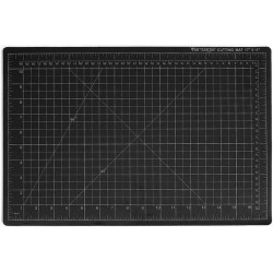 Dahle - 10673 - Dahle Vantage Self-Healing Cutting Mats - Cutting, Drawing, Sewing - 36 Width x 24 Depth x 0.13 Thickness - Rectangle - 1/2 Grid Lines - Polyvinyl Chloride (PVC) - Black