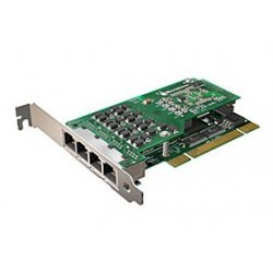 Sangoma - A104DE - Sangoma A104DE Voice Board - 4 x RJ-45 E1/T1 - PCI Express - 2U