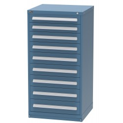 Vidmar - SCP3140AL - Pre-configured Cabinet with 9 Drawers with 124 Compartments, 30 W x 27-3/4 D x 59 H