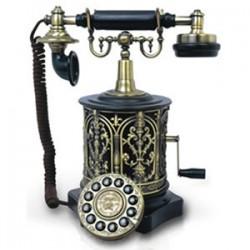 Paramount Phones - BISCUIT-BARREL - 1893 Biscuit Barrel Decor Phone Black