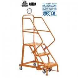 "Louisville Ladder - GSX1603 - 3-Step Rolling Ladder, 66"" Overall Height, 450 lb. Load Capacity"