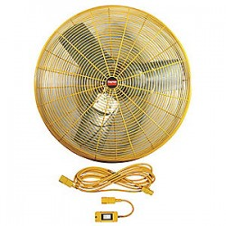 Greenheck Fan - 1VCH4 - Fan Industrial 2 Speed Yellow 6100 Cfm 1/3 Hp 115 V 3.4 A Grainger Industrial Supply, Ea