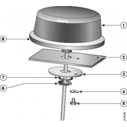 Cisco - 3G-ANTM-OUT-LP= - Cisco Multiband Omnidirectional Panel-Mount Antenna - 1.5 dBi - 1 x TNC