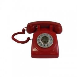 Paramount Phones - 1950-DESKPHONE-RD - 1950 Desk Phone Red
