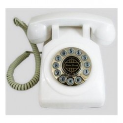 Paramount Phones - 1950-DESKPHONE-WH - 1950 Desk Phone White