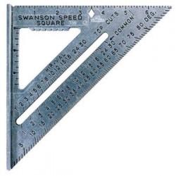 Swanson Tools - S0101 - Die Cast Aluminum Speedsquare W/black Gra