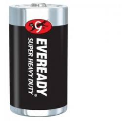 Energizer - 1250 - Eveready General Purpose Battery - 8000 mAh - D - Zinc Manganese Dioxide (ZnMnO2) - 1.5 V DC