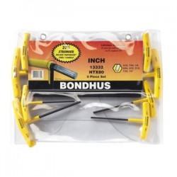 Bondhus - 13332 - 8-pc T-handle Hex Key Sewithout Ballpoints