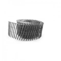 B&C Eagle - 134X092RSSC - (3.6M) 1-3/4 In. 15 Degree Wire Collated Coil Siding Stainless Steel Ring Shank Nails, 3, 600/Box