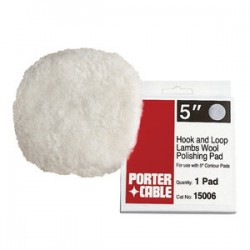 Porter Cable - 15006 - Porter-Cable 15006 5-Inch Lambs Wool Hook & Loop Polishing Pad