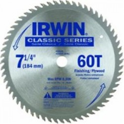 IRWIN Industrial Tool - 15530ZR - 7-1/4 In. 60T Saw Blade