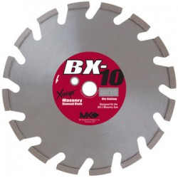 MK Diamond - 157957 - BX-10 14 In. Segmented Rim Dry Cutting Premium Grade Diamond Blade for Masonry Material.