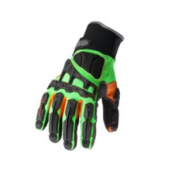 Ergodyne - 16057 - Ergodyne Size 3X Green ProFlex Armortex And PVC Full Finger Anti-Vibration Gloves With Neoprene Cuff